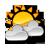 Ikona - Słońce + 2 chmury