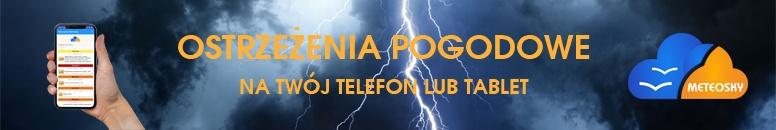 Ostrzeżenia pogodowe na telefon i tablet